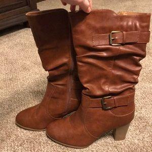 NWOT Mid-calf Heeled Boots